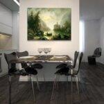 Алберт Ригер - Планински поток на лунна светлина №11207-Copy