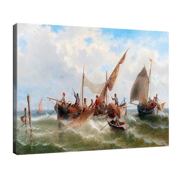 Алберт Ригер - Риболовни лодки срещу Венеция №11213
