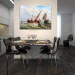 Алберт Ригер - Риболовни лодки в бурно море №11212-Copy