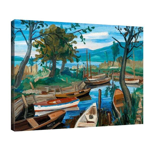 Рудолф Вакер - Пейзаж на езерото Констанс №11215