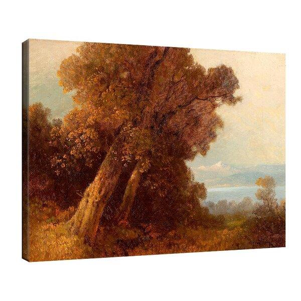 Оскар Мюли - Есенен пейзаж с дърво на слънчева светлина №11221