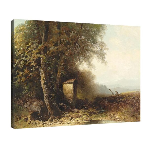 Оскар Мюли - Пейзаж през есента с крайпътно светилище №11225