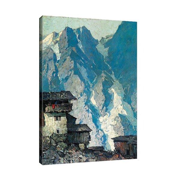 Оскар Мюли - Чифлик в планината, на заден план скални стени с ледникови езици №11236