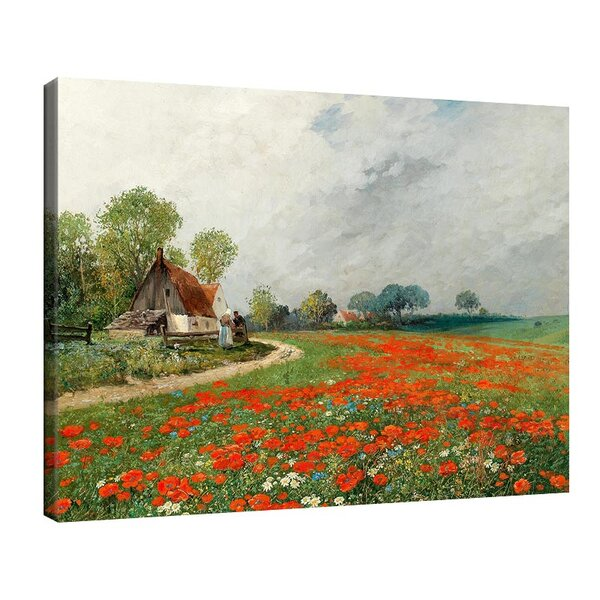 Адолф Кауфман - Маково поле с маргаритки №11246