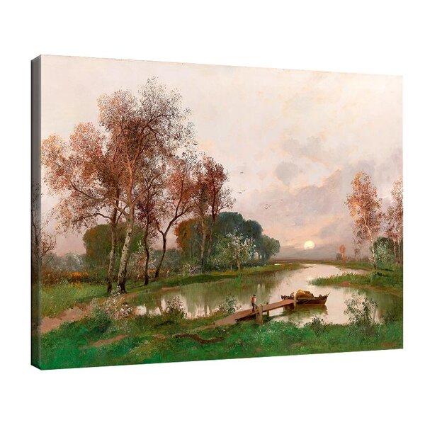 Адолф Кауфман - Пейзаж на езерото №11253