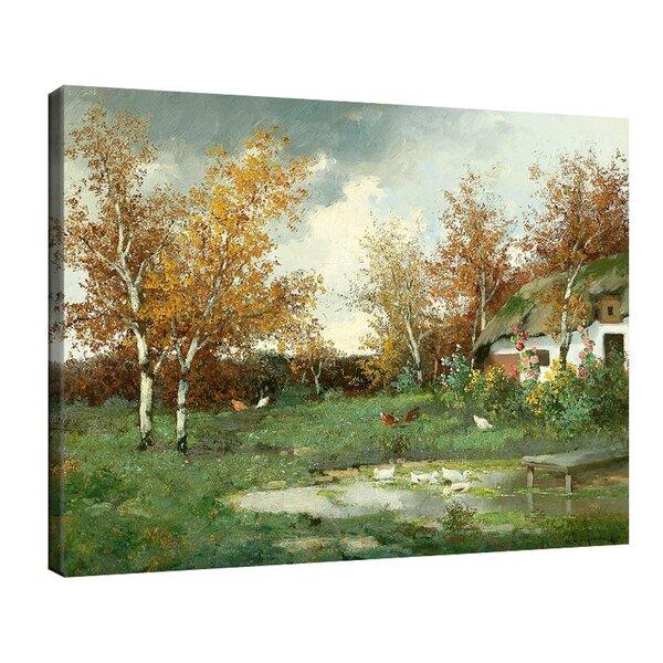 Адолф Кауфман - Пролетен пейзаж №11256