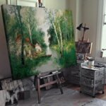 Адолф Кауфман - Пролетен пейзаж №11256-Copy