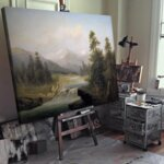 Адолф Кауфман - Речен пейзаж през пролетта №11257-Copy