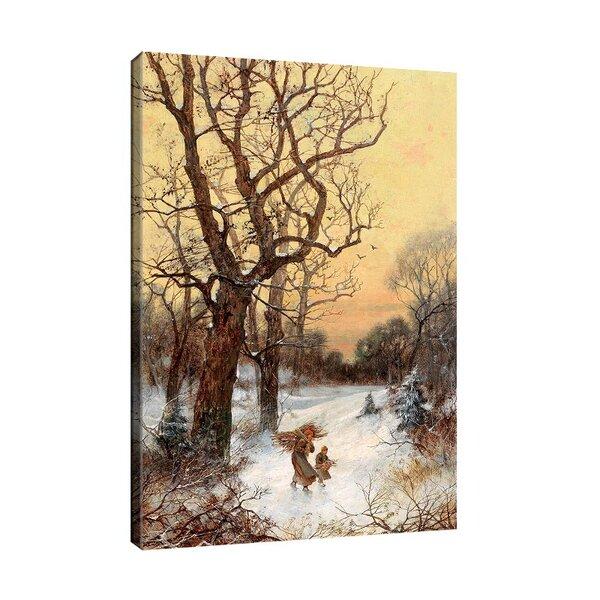 Адолф Кауфман - Събирачи на дърва в зимен пейзаж №11268