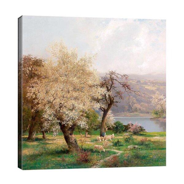 Адолф Кауфман - Езерен пейзаж през пролетта  №11271