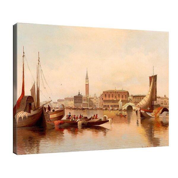Карл Кауфман - Венецианска сцена с изглед към площад Сан Марко №11275