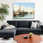 Карл Кауфман - Венецианска сцена с изглед към площад Сан Марко №11275-Copy