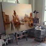 Карл Кауфман - Венецианска сцена №11277-Copy