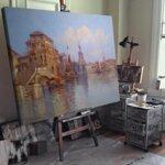 Карл Кауфман - Венецианска сцена №11279-Copy