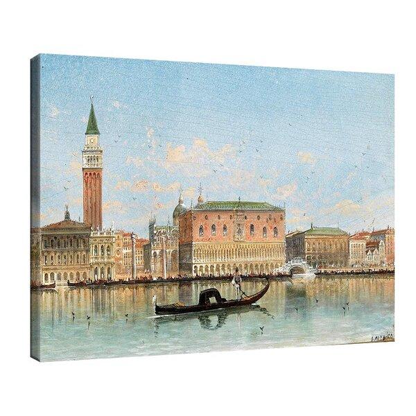 Карл Кауфман - Венеция, изглед към колоната на Сан Марко, подписана с псевдонима Х. Карние №11284