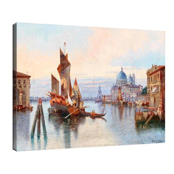 Карл Кауфман - Венеция, изглед към Санта Мария дела Салюте №11285