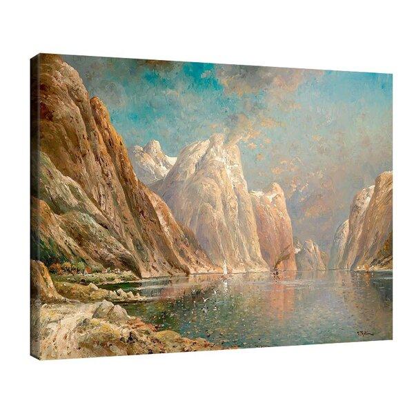 Карл Кауфман - Голям фиорден пейзаж, подписан с псевдонима J. Rollin №11288