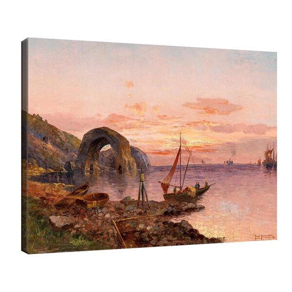Карл Кауфман - Залез на южното крайбрежие с рибари №11289