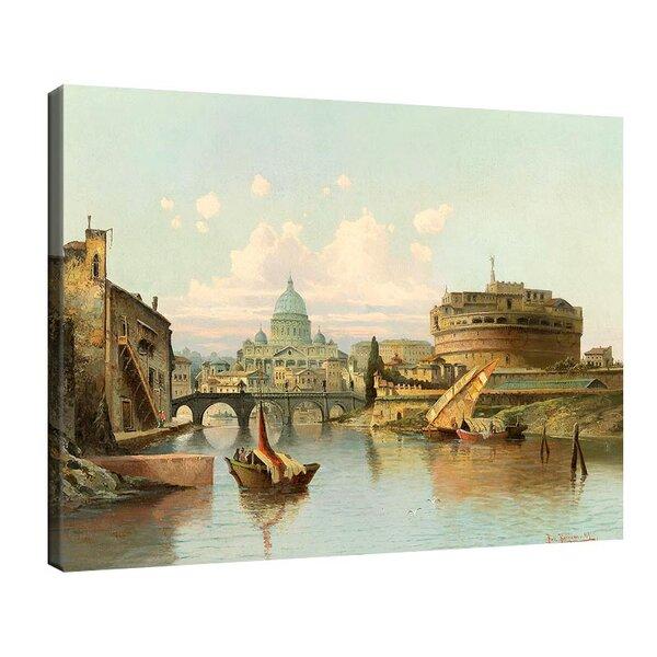 Карл Кауфман - Изглед към замъка Сант Анджело, Рим №11293