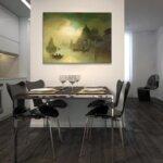 Карл Кауфман - Изглед към замъка Сант Анджело, Рим №11293-Copy