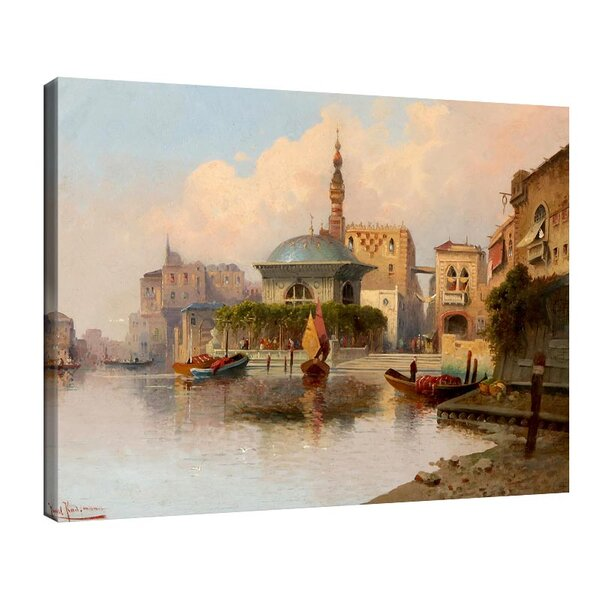 Карл Кауфман -Ориенталски градски пейзаж на реката №11300
