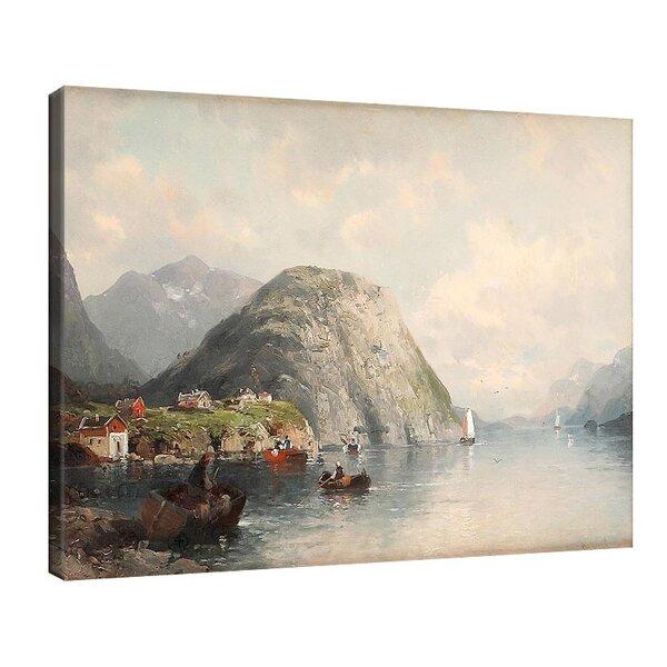 Карл Кауфман - Пейзаж на фиорд, подписан с псевдонима J. Rollin №11301