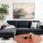 Карл Кауфман -Ориенталски градски пейзаж на реката №11300-Copy