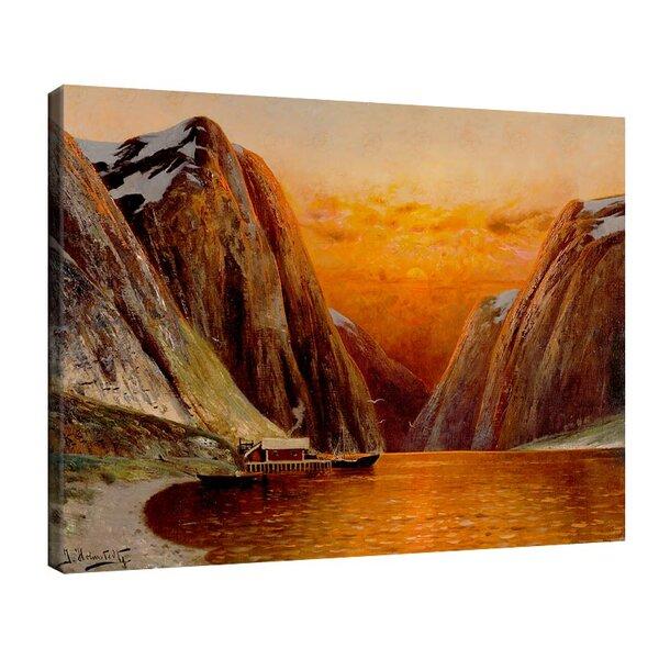 Карл Кауфман - Пейзаж на фиорда в отвъдното, подписан с псевдонима J. Holmstedt №11302
