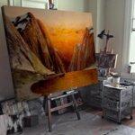 Карл Кауфман - Пейзаж на фиорд, подписан с псевдонима J. Rollin №11301-Copy