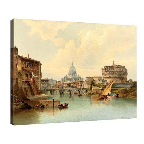 Карл Кауфман - Рим, изглед от замъка Сант Анджело №11304