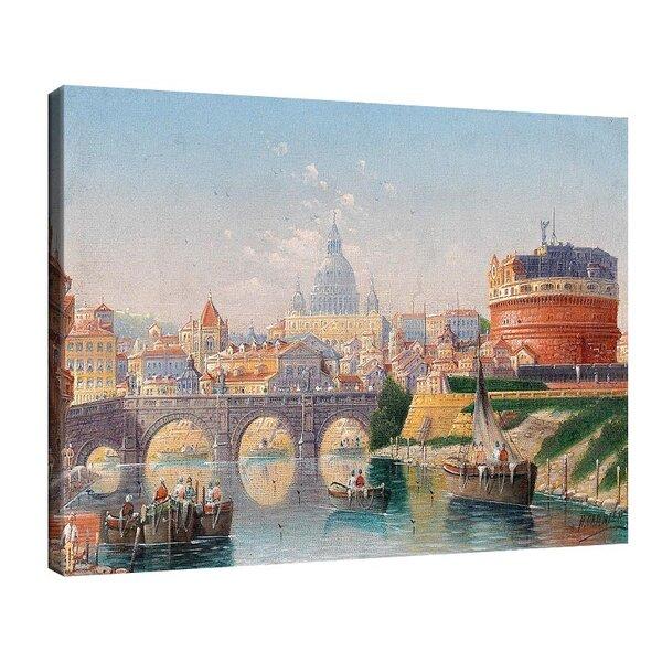 Карл Кауфман - Рим, изглед от замъка Сант Анджело №11305