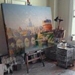Карл Кауфман - Рим, изглед от замъка Сант Анджело №11304-Copy