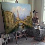 Карл Кауфман - Рим, изглед от замъка Сант Анджело №11305-Copy
