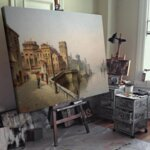 Карл Кауфман - Рио Сан Барнаба близо до Кацо Рецонико, Венеция №11306-Copy