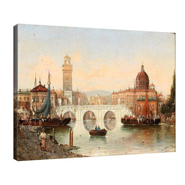 Карл Кауфман - Сцена от Флоренция, подписана с псевдонима Х. Карние №11310
