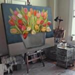 Мая Ценкова - Натюрморт с  маргаритки №11330-Copy
