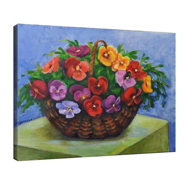 Мая Ценкова - Цветя аранжирани в кошница №11335