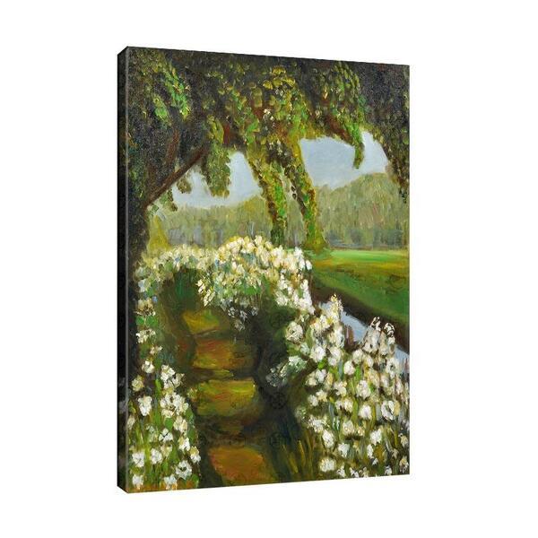 Мая Ценкова - Речен пейзаж с цветя №11349