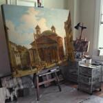 Иполито Кафи - Рим, Виа Апия призори №11362-Copy