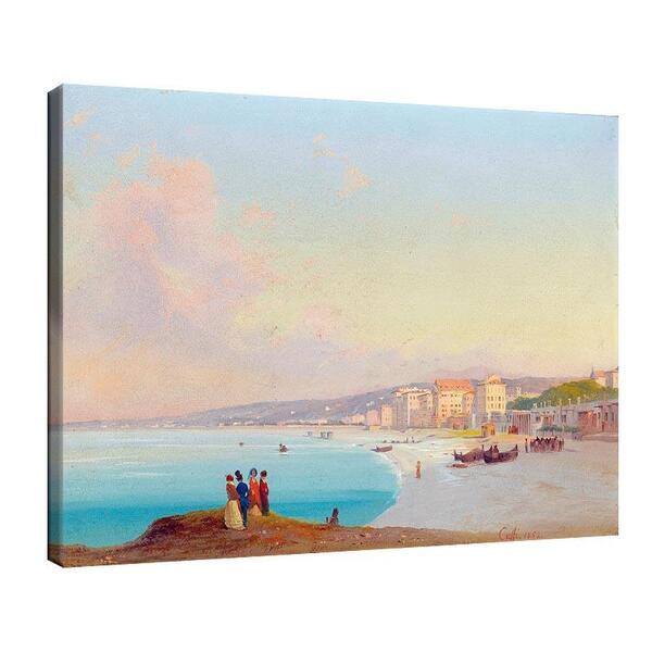 Иполито Кафи - Хубава гледка към плажа, погледната от Quai du Midi №11364