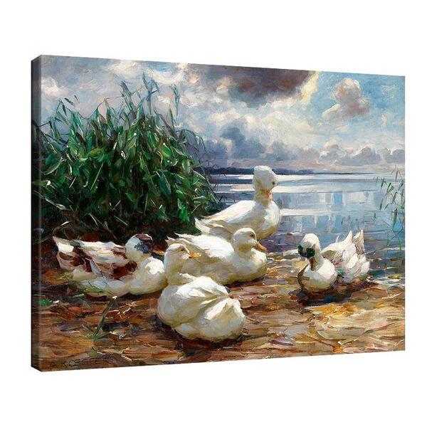 Александър Кьостер - Патици на езерото Химзее преди буря №11368