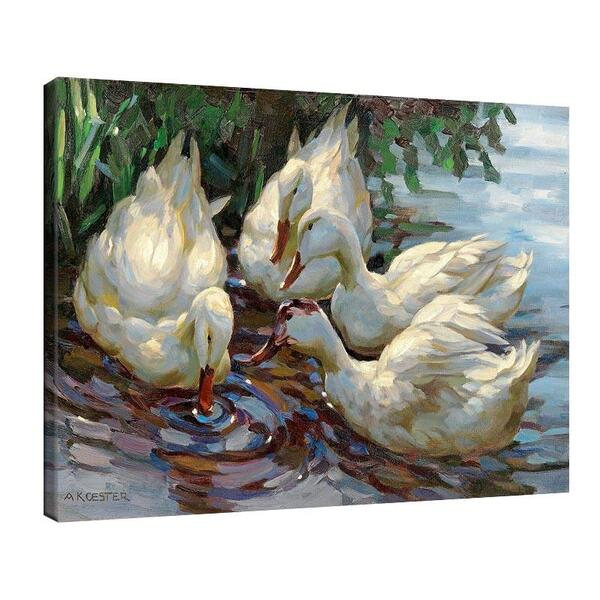 Александър Кьостер - Четири патици в езеро №11371