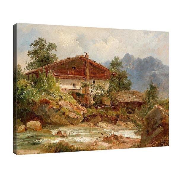 Лудвиг Халауска - Пейзаж в Тирол  №11388