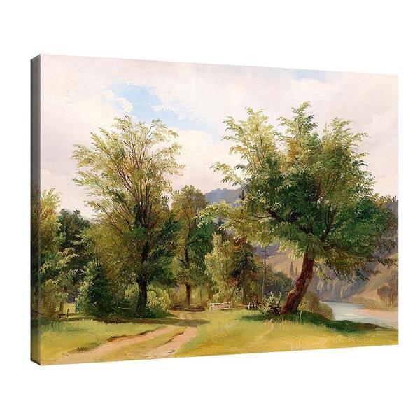 Лудвиг Халауска - Пейзаж с река  №11389