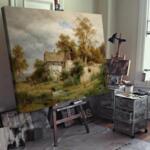 Лудвиг Халауска - Полуразрушен стопански двор в долината Лаабах близо до Каумберг  №11391
