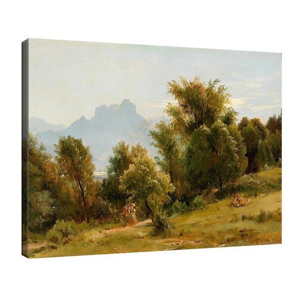 Лудвиг Халауска - Сцена с дървета край Бранненбург, Бавария - август 1858 №11395