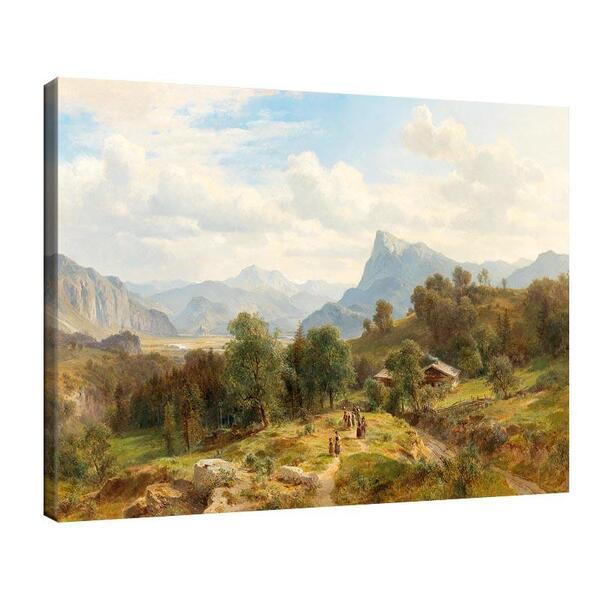 Лудвиг Халауска - Алпите при Лихтенщайн №11397