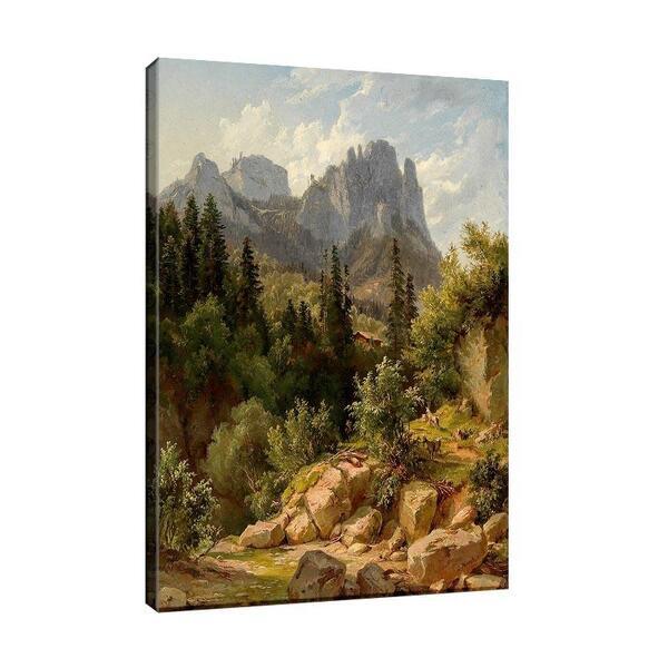 Лудвиг Халауска - Речен бряг в планината №11406