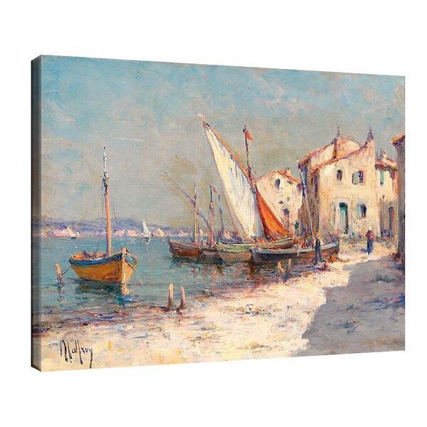 Чарлз Малфроа - Изглед към пристанище в Южна Франция №11409