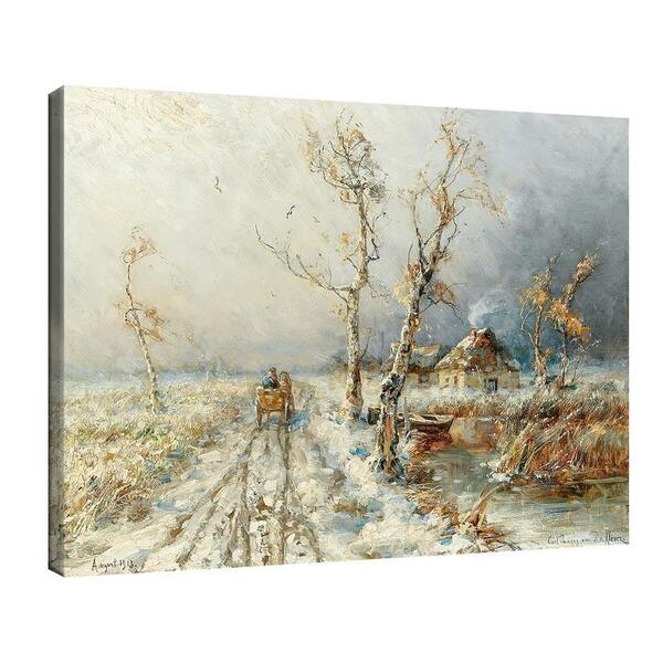 Юлий Клевер - Буря в снежен пейзаж №11437